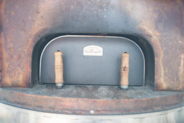 The most important part of a wood-fired oven.  The door.